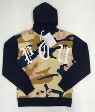 Men play clothes CAMOUFLAGED Pullover hoodie size LARGE 100%AUTHENTIC navy