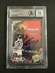 Shaquille O'Neal HOF Signed 1992-93 Skybox #382 RC Rookie BGS BAS 10 AUTO MAGIC