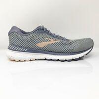 Brooks Womens Adrenaline GTS 20 1202961D073 Gray Running Shoes Size 9.5 D