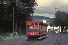 PHOTO  1962 ISLE OF MAN TRAMS LAXEY STATION THE UNIQUE TEAK-LIVERIED TRAILER NO.