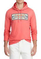 "Polo Ralph Lauren Men's SZ XL  ""Key West 1967"" Pullover Hooded T-Shirt Coral"