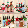 Wholesale Christmas Santa Wine Bottle Bag Cover Xmas Dinner Party Table Decor
