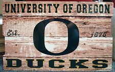 "OREGON DUCKS EST 1876 WOOD FENCE SIGN 19""X30'' BRAND NEW WINCRAFT"