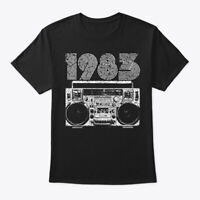 1983 Boombox Hanes Tagless Tee T-Shirt