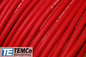 WELDING CABLE 2/0 AWG RED Per-Foot CAR BATTERY LEADS USA NEW Gauge Copper Solar