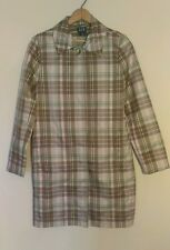 Gap Women's Light Jacket Long Plaid Trench Rain Coat Size Small winter warm