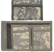 Digital Camo Trifold Wallet Polyester Commando Army Military Camouflage Tri-Fold