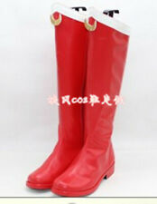 NEW SAILOR MOON Cosplay Red Boots Shoes Custom Made