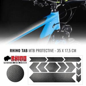 Kit Adesivo Protezione Telaio Bicicletta MTB Rhino, Carbon, 35 x 17,5 cm