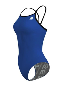 A3 Performance Xback Poly CONTRAST Swimsuit NEW NWT (purple, blue, black, red)