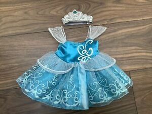 Build A Bear, Disney Princess Cinderella Princess Dress With Tiara Crown