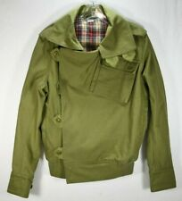 MAHARISHI DPM MHI FLAK JACKET Size S Olive Green DRAB WORK COTTON FULL ZIP
