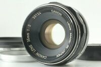 【EXC5+ w/ Hood 】 Canon 35mm F/2 Leica Screw Mount L39 LTM MF Lens From JAPAN