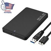 "USB 3.1 Type C 2.5"" External HDD SSD Enclosure Hard Drive Case SATA 3.0 UASP"