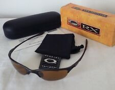"Oakley ""Half Wire"" Men's Sunglasses - Dark Carbon & Gold Iridium 05-733"