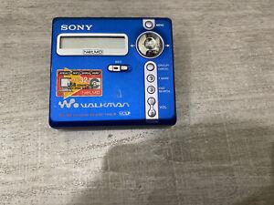 Sony MZ-N707 Mini Disc Recorder Blue