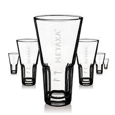 6 x Metaxa Glas Gläser 0,35l Weinbrand Relief Logo Gastro Bar NEU