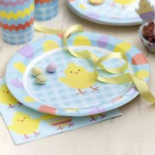 Happy Easter Chick Plates Tableware Party Supplies Egg Hunt Bunny X8