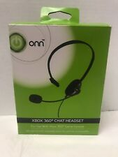 NEW ONN XBOX 360 GAME CONSOLE ADJUSTABLE BOOM WIRED CHAT HEADSET W/ BOOM MIC