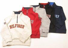 Tommy Hilfiger Boys Long Sleeve 1/2 Half Zip Boys Pullover Zip Neck Shirt