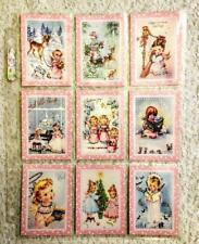 Set of 9 Cards~Christmas Vintage Angels~Pocket Pen Pal Letter Kit /w Sleeve~#26N