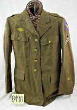 WW2 US AIR TRANSPORT DRESS JACKET W/ RARE GERMAN MADE PATCHES LARGE SIZE