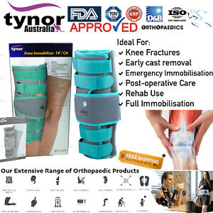Tynor® Tri-Panel Knee Immobilizer Patella Wrap ACL PCL Injuries & Fractures