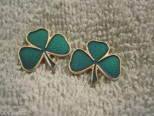 "St Patricks Day ""2 Piece Set"" ""Irish Shamrocks"" Lapel/Hat PinsTwo Shamrock Set"