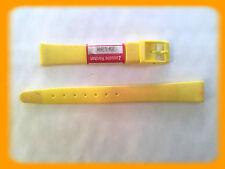 BRACELET MONTRE PVC JAUNE /* MADE IN SUISSE 12 mm /* REF.V51
