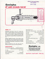 VINTAGE AD SHEET #2951 - 1960s REMINGTON IP AIR CHAIN SAW