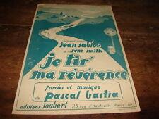 JEAN SABLON - Partition JE TIR' MA REVERENCE !!!!!!!!!!!!
