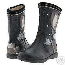 NIB IACOVELLI Black Silver Leather BOOTS 20/5 ITALY NWT