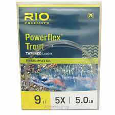 Rio Powerflex Trout Tapered Leaders 5lb / 5x 9ft
