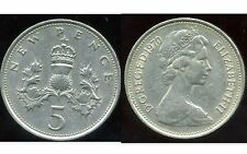 ROYAUME UNI   five   5  pence 1970