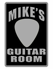 Personalized GUITAR Sign Printed with YOUR NAME..Custom Personalized Sign.rmblkw