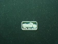 1 GRAM .999 SILVER MOTORCYCLE  LIVE TO RIDE COIN  BAR HARLEY GOLD WING INDIAN