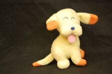 "Yellow Orange Baby Puppy Dog Rattle  5"" Plush Stuffed Animal Carters Lovey Toy"