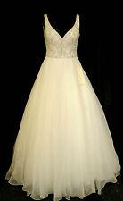 Ronald Joyce Designer Wedding Dress 18009 Jayne Ivory Organza Size 10 RRP £1395
