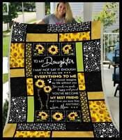 To My Daughter - My Best Friend Sofa Fleece Blanket 50-80