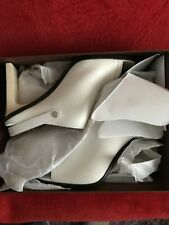 COACH NEW YORK MACKENZIE Chalk Leather Slides Sandals - Size US 10 B - New
