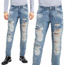 Jeans pantaloni uomo strappi slim fit ripped denim cotone TOOCOOL casual M1255