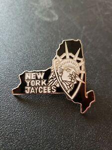 New York State Jaycees Lapel Pin Statue Of Liberty