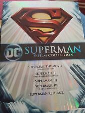 SUPERMAN 5-Film Collection: Christopher Reeve Dvd Gene Hackman Like New!