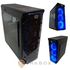 CASE GAMING CORTEK GHOST NERO ATX 2.0 3 X FAN VENTOLE 30 LED BLU GHOSTN USB