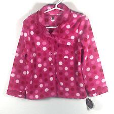 NWT Petite Lem Girl's Pink Polka Dot Pajama Full Set Size 4
