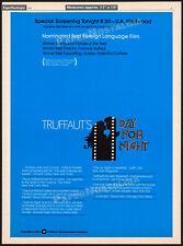 DAY FOR NIGHT__Orig. 1974 Trade AD / poster__FRANCOIS TRUFFAUT_Valentina Cortese