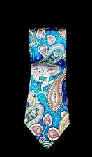 Croft  Barrow Men's Tie 100% Silk Hand Made Paisley Necktie