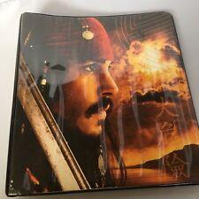 Pirates Of The Caribbean Johnny Depp Orlando Bloom 3 Ring Binder Disney Folder