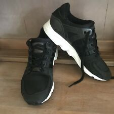 💥 ADIDAS EQUIPMENT ADV/91-17 Black Leather Runners Trainers Sneakers Sz 8 7.5