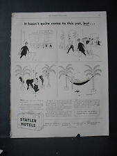 1943 Statler Hotels Ad Don't forget Reservation Cartoon Style VTG Print Ad 10897